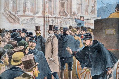 Le procès contre Zola - couverture du supplément illustré du Petit Journal du 20 février 1898