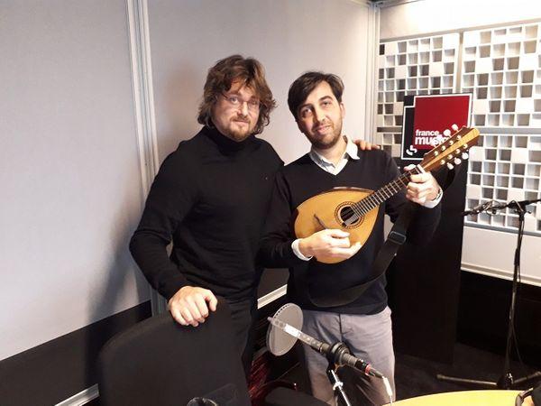 Vincent Beer-Demander et  Sébastien LLinarès    7/11/19 studio 361 France Musique