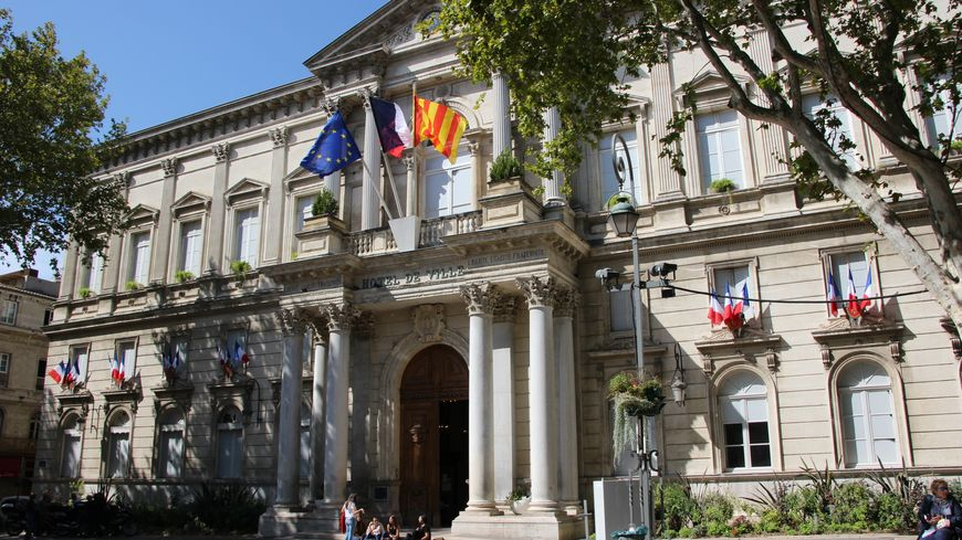 Mairie d'Avignon (vaucluse), septembre 2019.