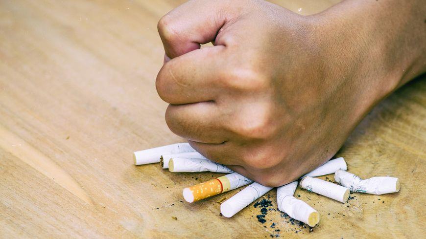 Cigarettes écrasées