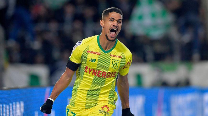 La joie du milieu de terrain, Ludovic Blas, après son premier but en Ligue 1 sous les couleurs du FC Nantes, le 10 novembre dernier.