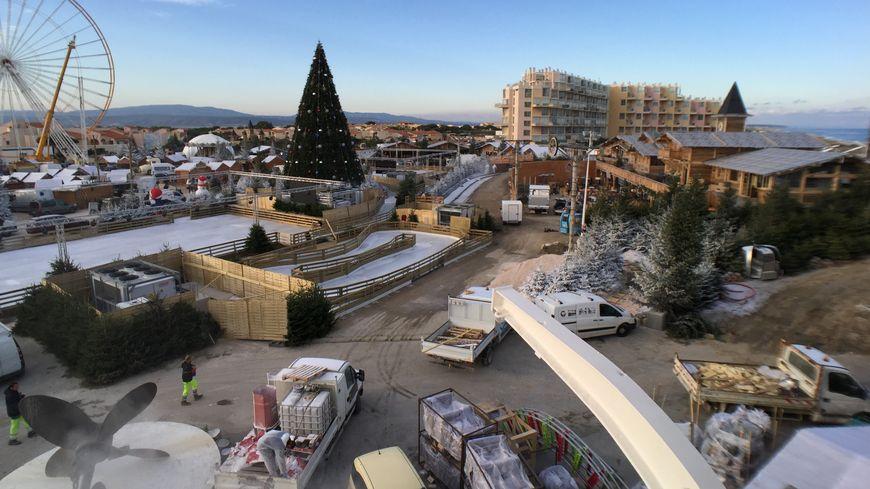 Le Village de Noël du Barcarès se prépare à ouvrir ses portes