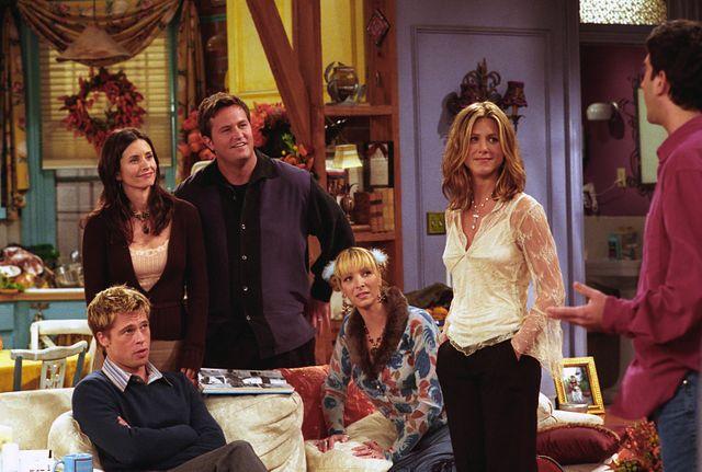 """Repas de Thanksgiving dans """"Friends"""" avec Brad Pitt en """"guest star"""""""