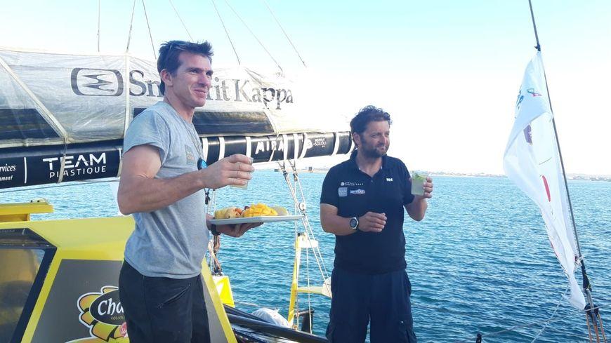 Xavier Macaire et Arnaud Boissières savourent leur arrivée au Brésil.