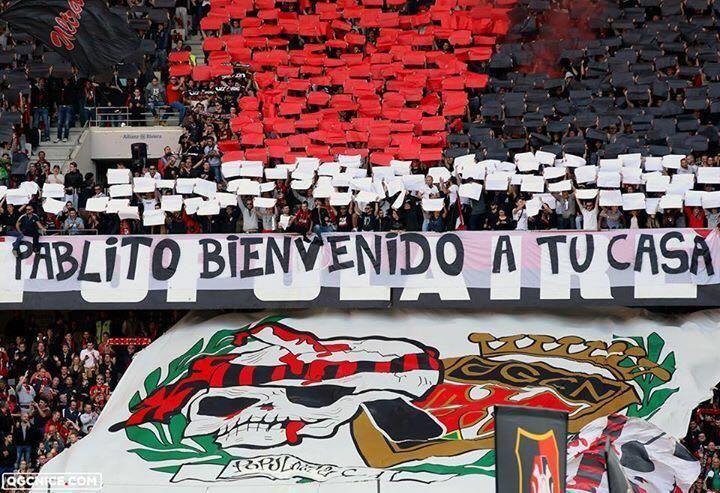 La Populaire Sud avait rendu hommage à Pablo Rodriguez à l'Allianz Riviera