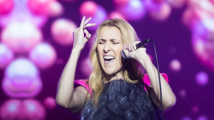 Celine Dion sur la scène du Cotai Strip Cotai Arena à Macao en 2018, Chine.