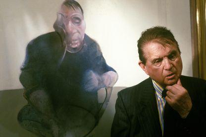 Le peintre, Francis Bacon à Paris, le 29 septembre 1987.