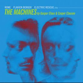 "Pochette de l'album ""Flavien Berger, Rone & The Electric Rescue play The machines"" par Gaspar Claus"