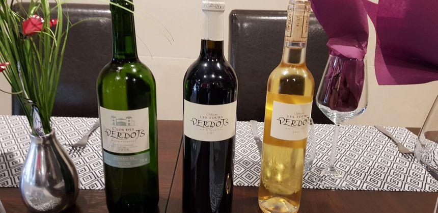 3 bouteilles de la gamme de David Fourtout