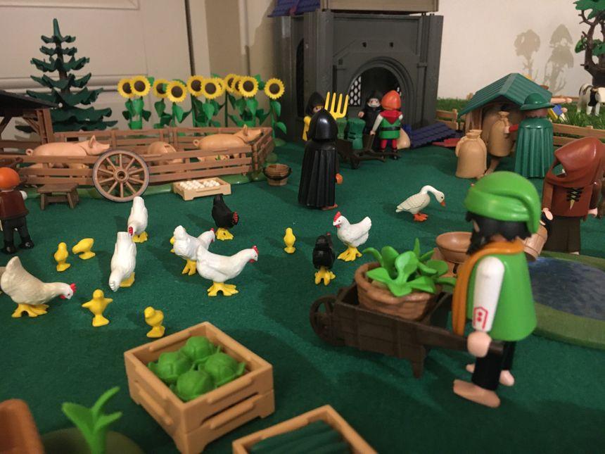 La reconstitution en Playmobil du village de Domrémy