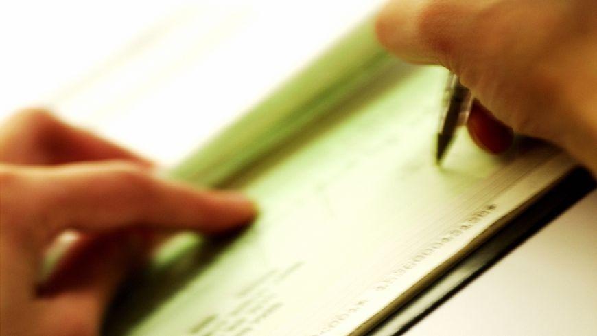 Un chèque bancaire (photo d'illustration)