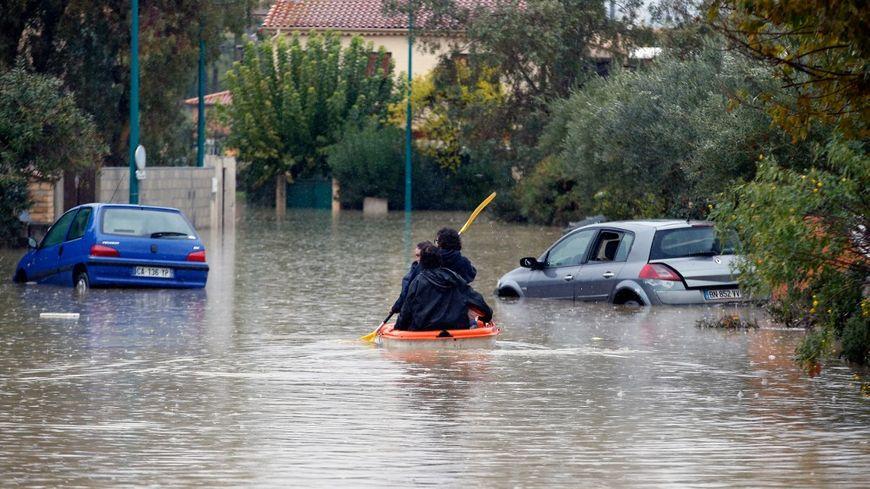 Le Muy, dans les Alpes-Maritimes, victime de l'épisode de fortes pluie et les inondations du week-end dans le Sud-Est