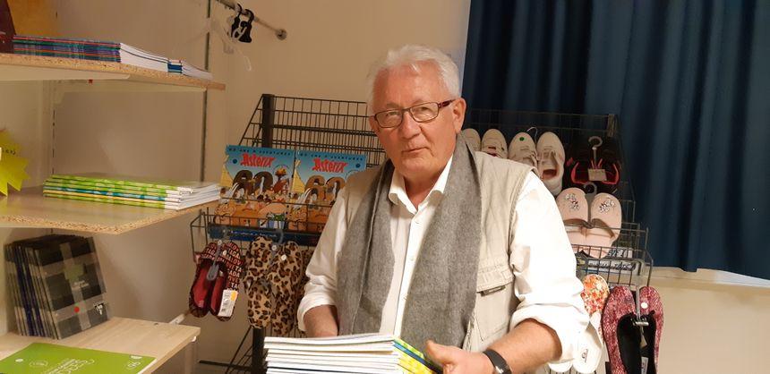 Jean-Luc Mornand responsable de l'épicerie solidaire de la Banque Alimentaire