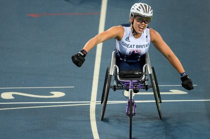 Hannah Cockroft, athlète handisport britannique et médaille d'or  du 800m aux JO de Rio (2016)