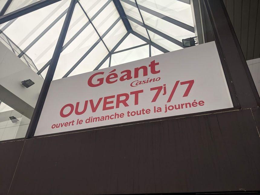 C'est la première fois que le Géant Casino de Poitiers ouvrait un dimanche après-midi, et ce jusqu'à 21 heures.