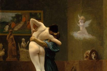 """Pygmalion et galatée"" par Jean-Léon Gérôme dans la collection du Metropolitan Museum of Art, New York."