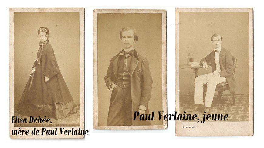 Trois photos issues de l'album de la famille Verlaine