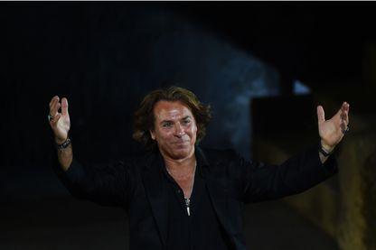 Le ténor Roberto Alagna sur scène, le 29 juillet 2015 à Orange.