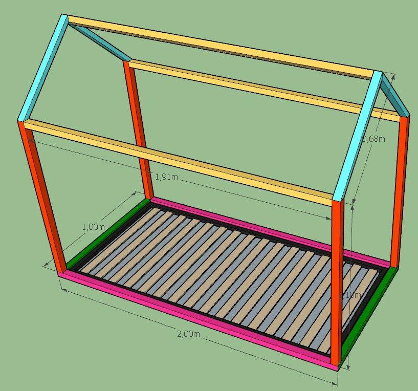 Plans pour construire soi-même un lit cabane