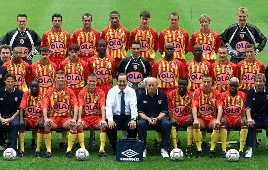 L'équipe de Lens lors de la saison 1997/1998