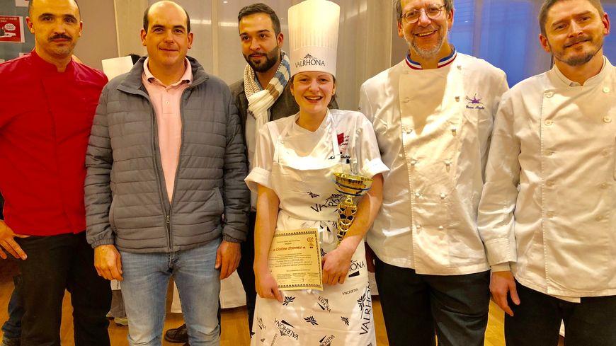 Mélina Lotholary a remporté le titre de meilleure apprentie de la région section pâtisserie