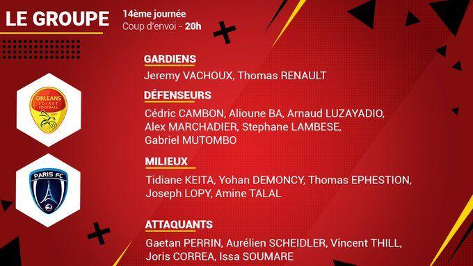 Keita et Mutombo font leur retour. Cédric Cambon, sorti à la mi-temps à Caen, est de nouveau opérationnel.