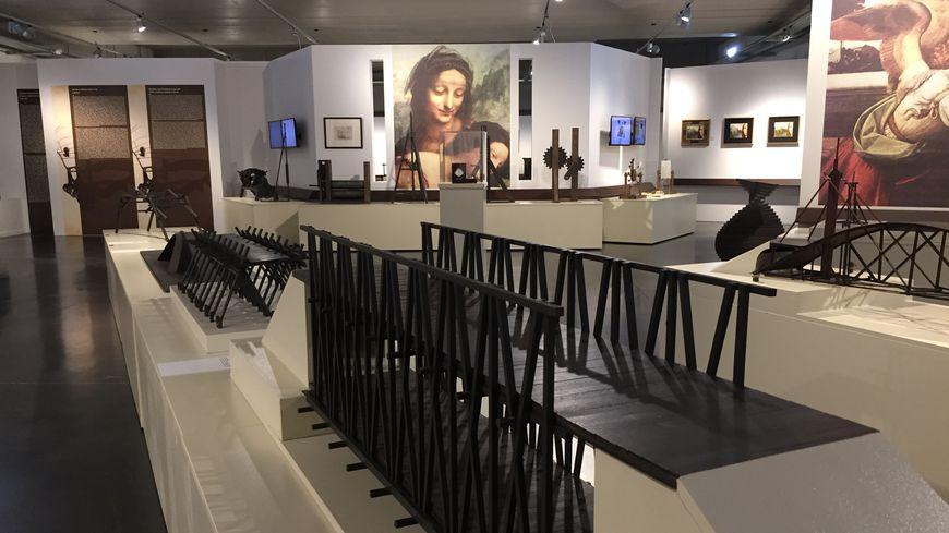 L'exposition Léonard de Vinci regroupe 120 maquettes.