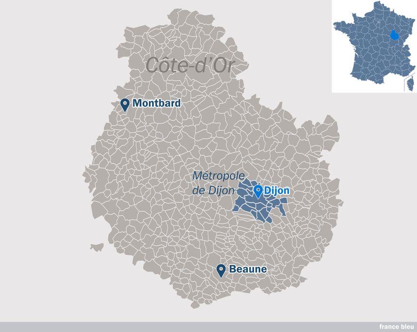 Les vingt-trois communes de la métropole de Dijon