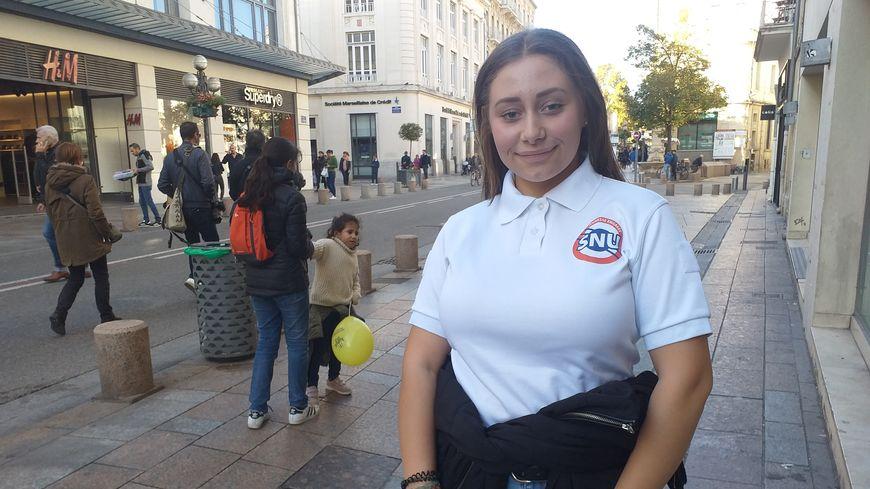 Angélique, 16 ans, originaire d'Avignon et ambassadrice du Service national universel en Vaucluse.