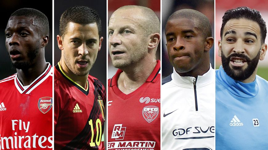 Nicolas Pépé, Eden Hazard, Florent Balmont, Rio Mavuba et Adil Rami