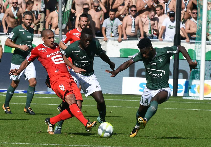 AS Saint-Étienne face à Rennes (2017)