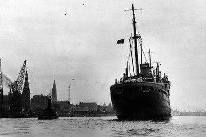 Le 17 juin 1939, arrivée dans le port d'Anvers, du paquebot Saint Louis, avec, à son bord, tous les réfugiés juifs allemands qui avaient cru pouvoir débarquer outre-Atlantique