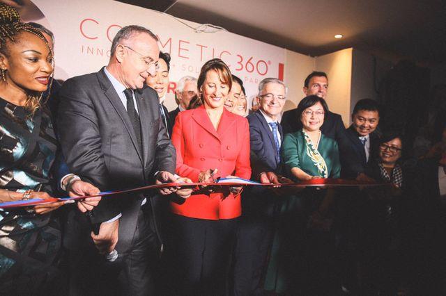 Ségolène Royal inaugure le salon Cosmetic 360, le 16 octobre 2019.