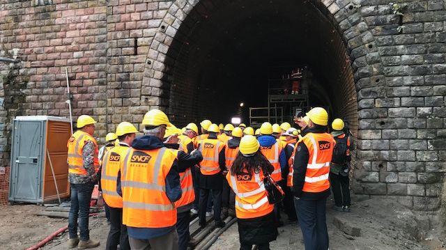 Visite du chantier de réfection du tunnel ferroviaire de Vanémont