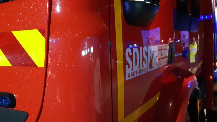 Intervention de nuit des pompiers du Hait-Rhin.