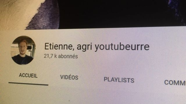 Etienne, agri youtubbeure