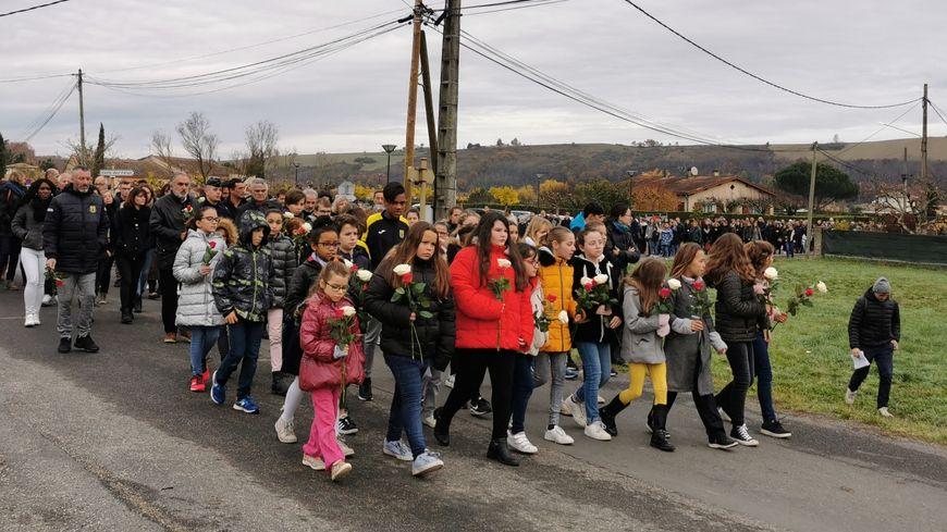 Les enfants de l'école de Mirepoix ouvraient la marche silencieuse