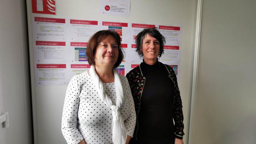 La moitié des 2 600 assistants maternels de Mayenne sont accompagnés par l'Asmat, l'association des assistants maternelles. Nathalie Rocher (à droite) fait ce métier depuis 16 ans.