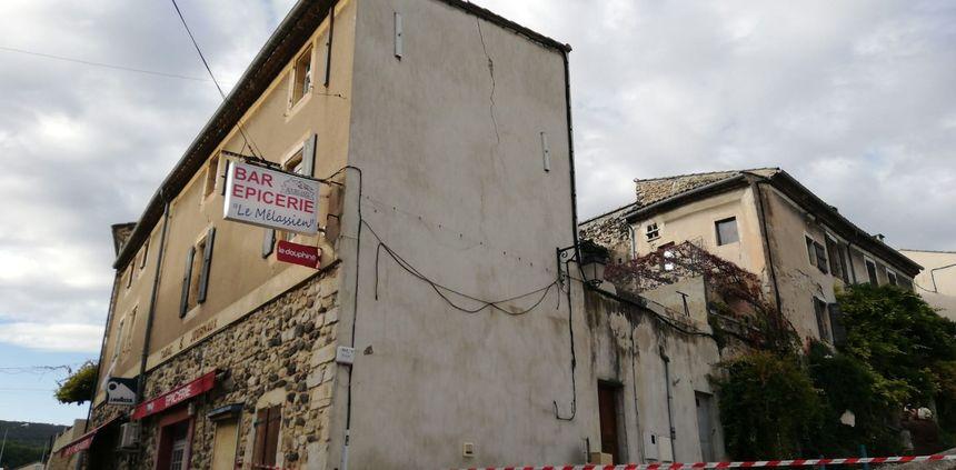 Des bâtisses endommagées par le séisme quartier Mélas au Teil (Ardèche)