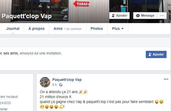 Page facebook de l'établissement.