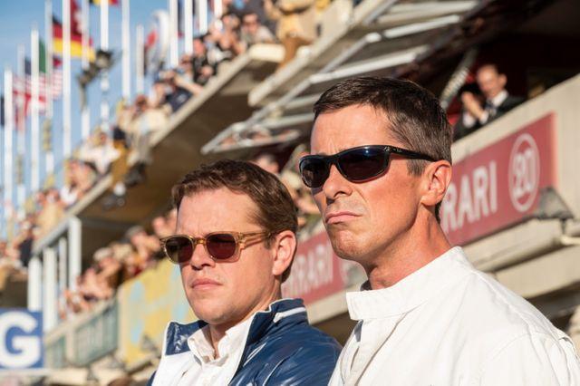 """Matt Damon (Carroll Shelby) et Christian Bale (Ken Miles) dans """"Le Mans 66"""""""