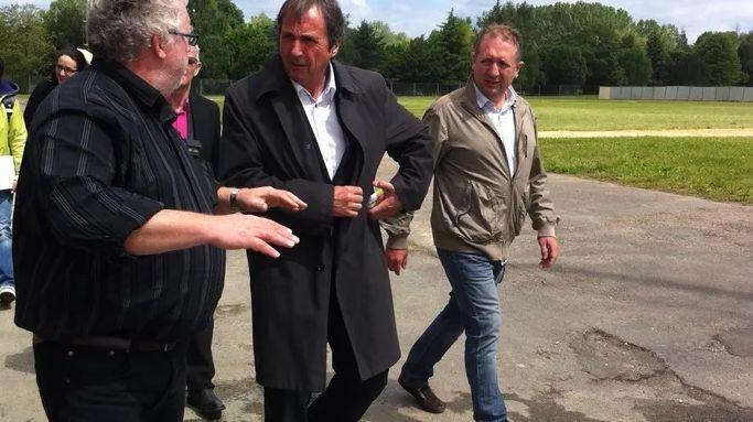 Le maire de Bergerac Dominique Rousseau et Christophe Fauvel, le président de la CCI (archives Radio France)