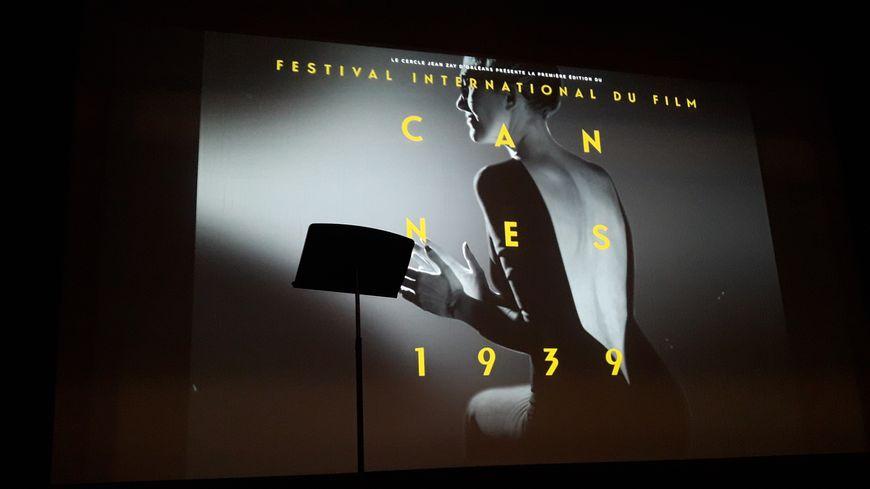 L'une des affiches du festival Cannes 1939 au cinéma Les Carmes et au Théâtre d'Orléans