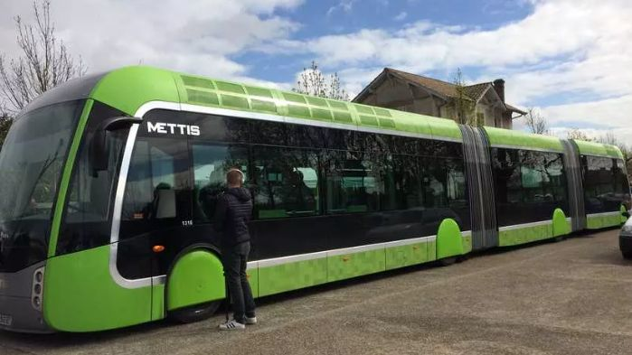 C'est ce modèle de BHNS qui devrait équiper la ligne Bordeaux/St-Aubin-de-Médoc