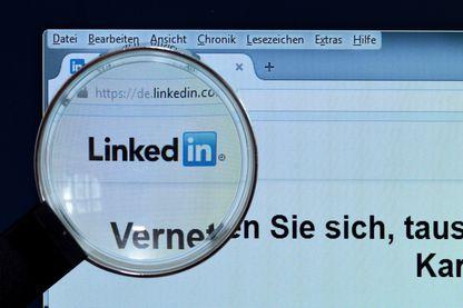 Page d'accueil de LinkedIn en Allemagne