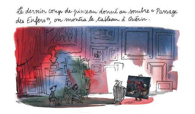 """Détail d'une planche de """"Delacroix"""" par Alexandre Dumas et Catherine Meurisse"""