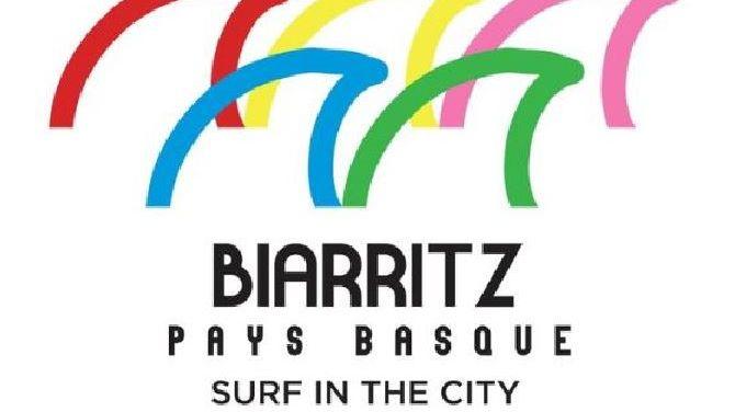 L'ancien logo des Jeux pour les épreuves de surf à Biarritz