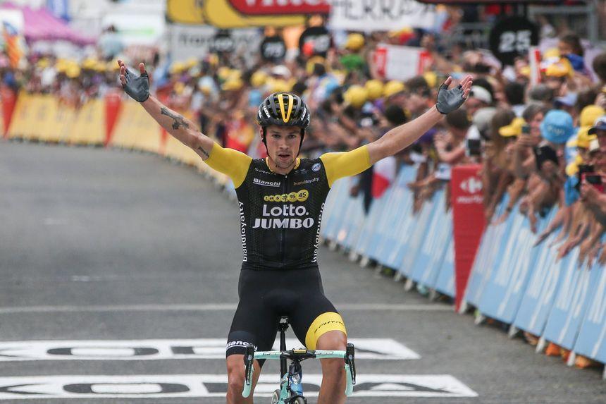 Primoz Roglic avait levé les bras en vainqueur à Laruns en 2018.