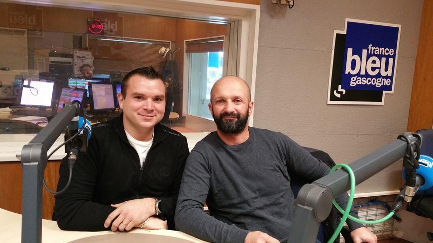 Nicolas Duvignau secrétaire de la banda et David Biarnès ancien présidenbt co-fondateur