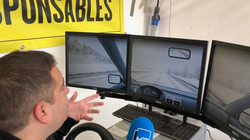 Alban teste le simulateur